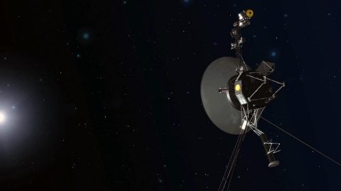 An artist concept depicting one of the twin Voyager spacecraft. Humanity's farthest and longest-lived spacecraft are celebrating 40 years in August and September 2017. (NASA/JPL-Caltech)