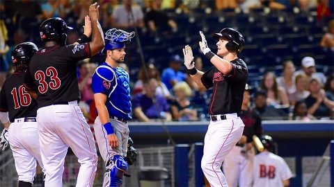 Nashville Sounds Drills Four Homers to Back Jharel Cotton's Gem. (Nashville Sounds)