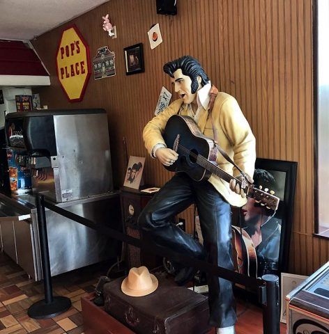 Elvis at Pop's Travel Center.