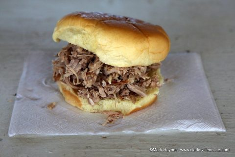 The famous BBQ sandwich.