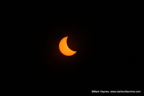 Eclipse from Montgomery County's RichEllen Park.