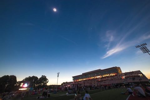 APSU hosts Peayclipse, an event for the community to gather and witness a once in a lifetime solar eclipse at Fortera Stadium on Monday, Aug. 21, 2017. (Taylor Slifko, APSU)