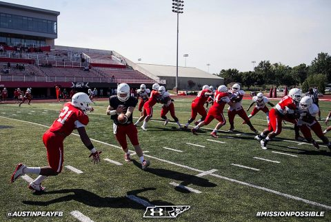 Austin Peay Football held their first scrimmage of the season Saturday. (APSU Sports Information)
