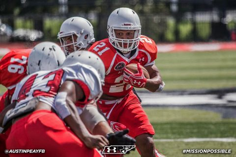 Austin Peay Football held their final scrimmage during Fan Fest at Fortera Stadium, Saturday. (APSU Sports Information)