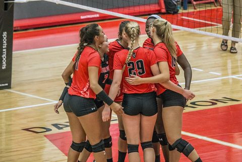 Austin Peay Volleyball beats Northwestern State in five sets at Ole Miss Classic Friday night. (APSU Sports Information)