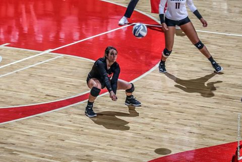 Austin Peay Volleyball's Ginny Gerig has 28 digs in loss to Northern Iowa Sunday at the Dunn Center. (APSU Sports Information)