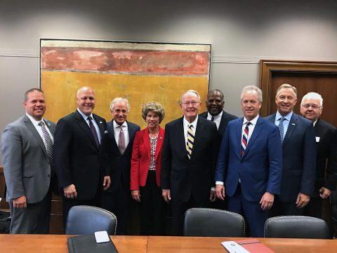 Clarksville Mayor Kim McMillan and members of the U.S. Conference of Mayors met with Tennessee's U.S. Sens. Bob Corker and Lamar Alexander on Wedesday in Washington, D.C.