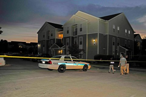 Clarksville Police investigate a shooting that occured Friday night at an apartment complex on Fort Campbell Boulevard.