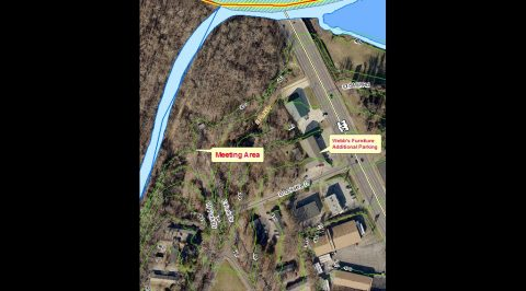 Map to Clarksville Street Department Fletchers Fork cleanup