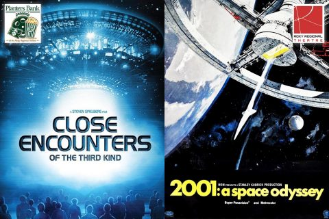 "Planters Bank Presents to show ""Close Encounters of the Third Kind"" on August 20th and then ""2001: A Space Odyssey"" on August 21st at the Roxy Regional Theatre."