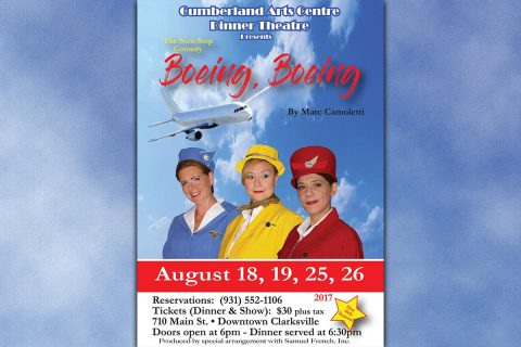 "(L to R) Amy Snider, Nicole June and Mary Beth Hawkins in ""Boeing, Boeing"""