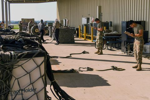 Soldiers from across the 101st Airborne Division (Air Assault) participate in the Sling Load Inspector Certification Course at Fort Campbell, Ky. More than 40 Soldiers participated in the SLICC course. (Sgt. Marcus Floyd, 101st Combat Aviation Brigade)