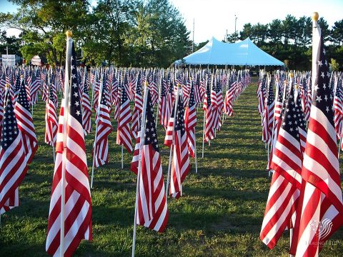 Flags in the Field of Honor Veteran's Tribute