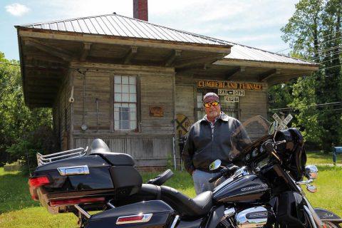 Hank at Cumberland Furnace Railroad Depot