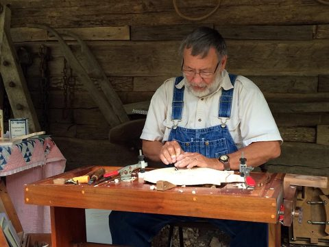 Homeplace Trades Fair 2016 at Land Between the Lakes provided an opportunity for visitors to learn about trades during the mid-19th century like hand-carved mandolins. (LBL)