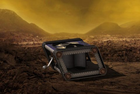AREE is a clockwork rover inspired by mechanical computers. A JPL team is studying how this kind of rover could explore extreme environments, like the surface of Venus. (NASA/JPL-Caltech)