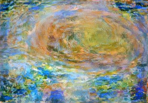 Citizen scientist David Englund created this avant-garde Jovian artwork using data from the JunoCam imager on NASA's Juno spacecraft. (NASA/JPL-Caltech/SwRI/MSSS/David Englund)