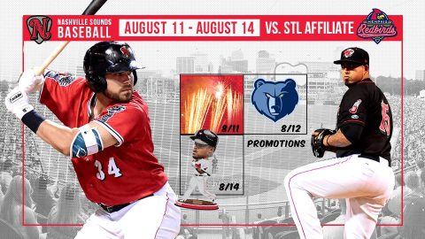 Friday Fireworks, Sunday Family Fun Day, and Prince Fielder Bobblehead Highlight Nashville Sounds Homestand. (Nashville Sounds)