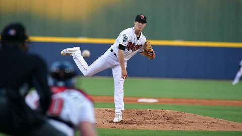 Nashville Sounds pitcher Daniel Gossett Takes Tough Loss after Racking up 10 Strikeouts. (Nashville Sounds)