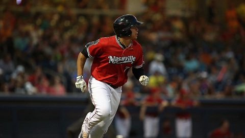 Nashville Sounds Yairo Muñoz Collects Fifth Straight Multi-Hit Effort. (Nashville Sounds)