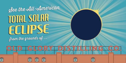 Old Glory Distilling Company Total Solar Eclipse viewing party