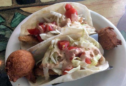 Riverview Restaurant and Marina Fish Tacos. (Riverview Restaurant)