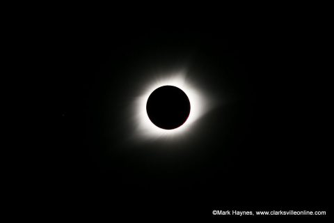 Total Solar Eclipse over Clarksville Tennessee.