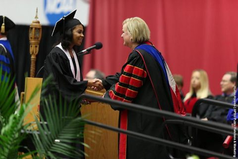 Austin Peay Athletics has twelve student athletes, alumni and staff take part in Summer 2017 Commencement. (APSU Sports Information)