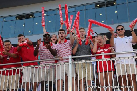 Austin Peay Football fans at the Morehead State game.