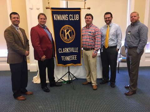 2017-18 Board Officers – (L to R) Daniel Binkley, Immediate Past President; Dan Black, President; Price Hopson, 2nd Vice President; Brandon Bridges, Secretary; Jeff Henley, Treasurer.