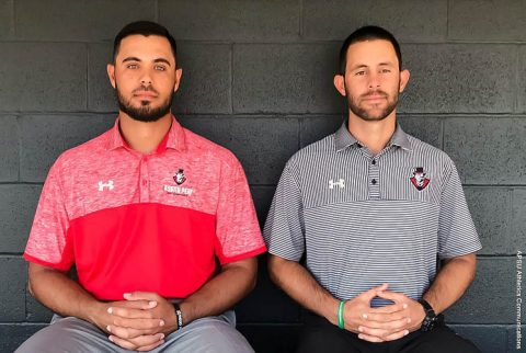 Austin Peay Baseball teams promotes David Weber (right) to assistant coach, adds Jordan Coffey (left) as volunteer assistant. (APSU Sports Information)