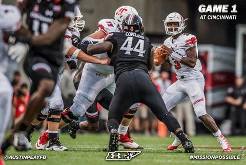 Austin Peay Football has strong performance at Cincinnati Bearcats Thursday night. (APSU Sports Information)