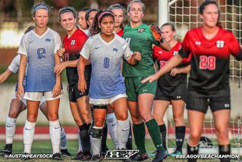 Austin Peay Soccer unable to contain LSU Tigers Sunday night in Baton Rouge. (APSU Sports Information)