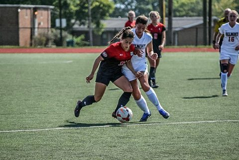 Austin Peay Women's Soccer falls to Belmont 3-2 at E.S. Rose Park, Sunday. (APSU Sports Information)