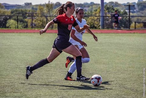 Austin Peay Women's Soccer takes down SIU Edwardsville at Morgan Brothers Soccer Friday night. (APSU Sports Information)
