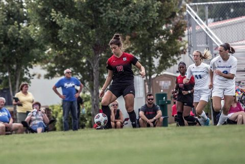 Austin Peay Women's Soccer gets 2-0 win over Eastern Illinois Sunday at Morgan Brothers Soccer Field. (APSU Sports Information)