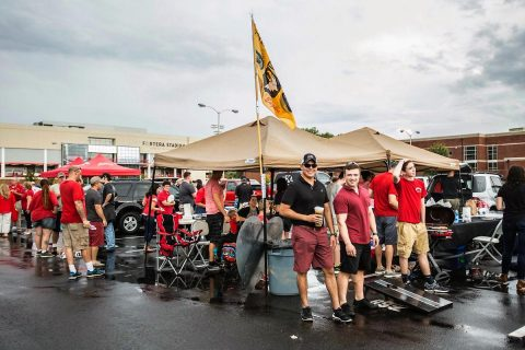 Austin Peay Tailgate Alley. (APSU Sports Information)