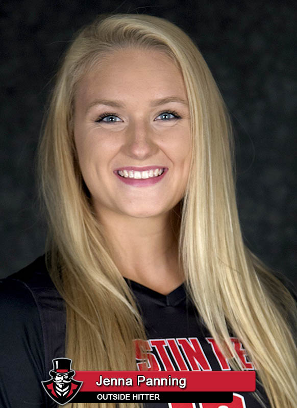 apsu volleyball 39 s jenna panning clarksville tn online. Black Bedroom Furniture Sets. Home Design Ideas