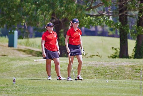 Austin Peay's Ashton Goodley is tied for third after 36 holes at NKU Fall Classic. (APSU Sports Information)
