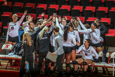 Austin Peay Women's Volleyball falls in three sets to Mississippi Thursday night. (APSU Sports Information)
