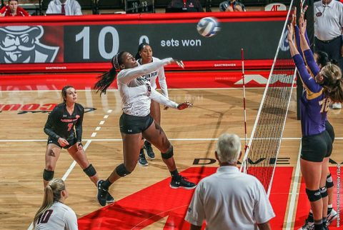Austin Peay Volleyball dominates Presbyterian in three set victory at Jacksonville Classic. (APSU Sports Information)