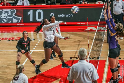 Austin Peay Women's Volleyball takes down UT Martin in three straight sets Saturday afternoon. (APSU Sports Information)