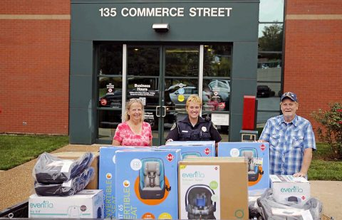 Citizens Police Academy Alumni's Generosity Helps Clarksville Police Department Kick Off Child Passenger Safety Week, September 17th-23rd, 2017