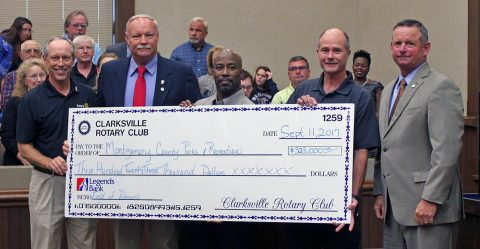 Clarksville's Rotary Clubs donates $323,000 for a specially designed, multi-purpose sports field that will support the county's special needs athletes, families and support networks.