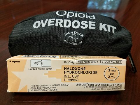 Naloxone added to Rapid Deployment Bags that are in every Clarksville Police Officer's vehicle.