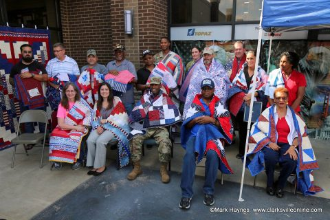 Quilting in Clarksville presented 22 quilts to veterans on Friday, September 22nd, 2017.