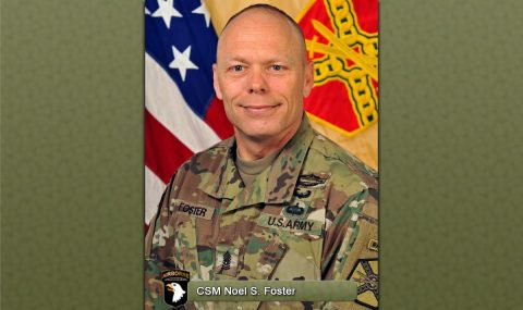 Fort Campbell Command Sergeant Major Noel S. Foster