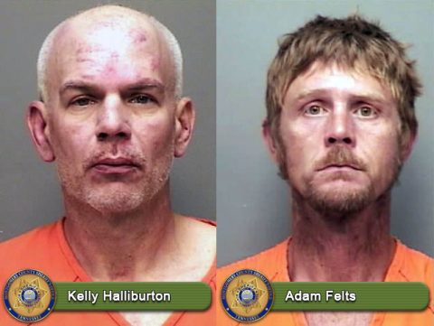 Kelly Halliburton and Adam Felts are wanted for Kidnapping, Assault, and Robbery by the Montgomery County Sheriff's Office.