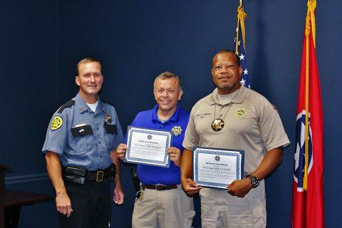 (L to R) Montgomery County Sheriff John Fuson, Investigator William Maynard and Investigator Fred Smith.