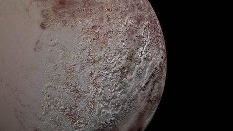 Pluto's bladed terrain as seen from New Horizons during its July 2015 flyby. (NASA/JHUAPL/SwRI)